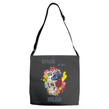 Stuck In My Head Adjustable Strap Totes Designed By Hasret
