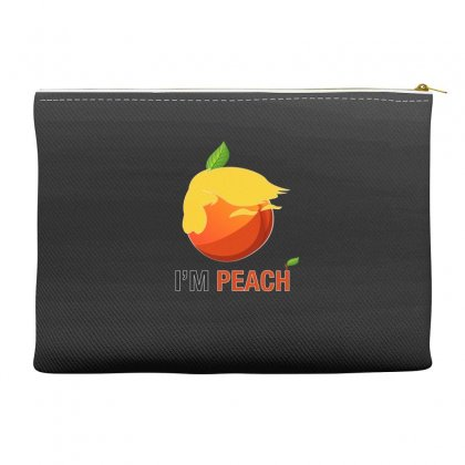 I'm Peach For Dark Accessory Pouches Designed By Hasret