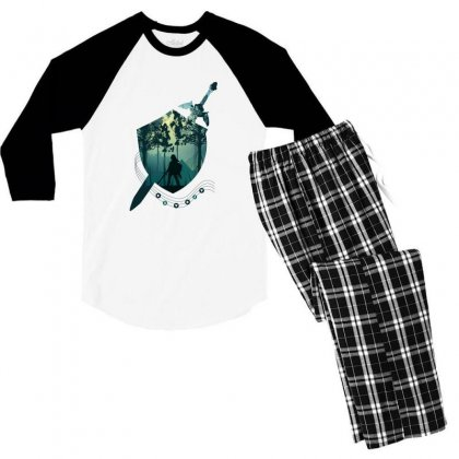 Song Of Time Men's 3/4 Sleeve Pajama Set Designed By Hasret