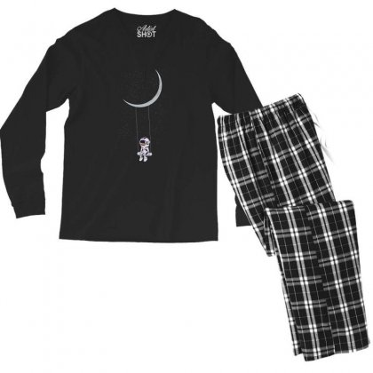 Astronaut In The Galaxy Men's Long Sleeve Pajama Set Designed By Hasret
