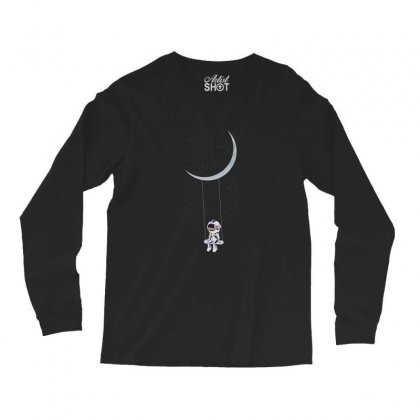 Astronaut In The Galaxy Long Sleeve Shirts Designed By Hasret