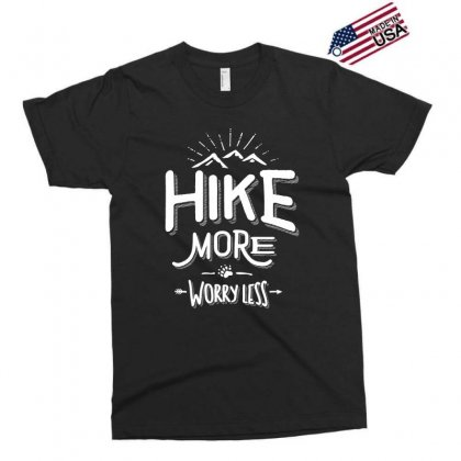 Funny Novelty Hiking T Shirt Hike More Worry Less Mountain Exclusive T-shirt Designed By Cidolopez