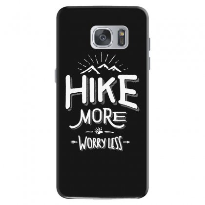 Funny Novelty Hiking T Shirt Hike More Worry Less Mountain Samsung Galaxy S7 Case Designed By Cidolopez