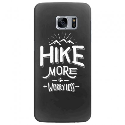 Funny Novelty Hiking T Shirt Hike More Worry Less Mountain Samsung Galaxy S7 Edge Case Designed By Cidolopez