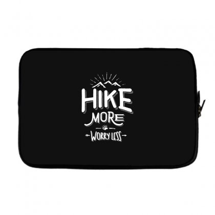 Funny Novelty Hiking T Shirt Hike More Worry Less Mountain Laptop Sleeve Designed By Cidolopez