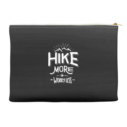 Funny Novelty Hiking T Shirt Hike More Worry Less Mountain Accessory Pouches Designed By Cidolopez