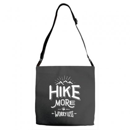 Funny Novelty Hiking T Shirt Hike More Worry Less Mountain Adjustable Strap Totes Designed By Cidolopez
