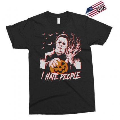 I Hate People Halloween Exclusive T-shirt Designed By Zindora
