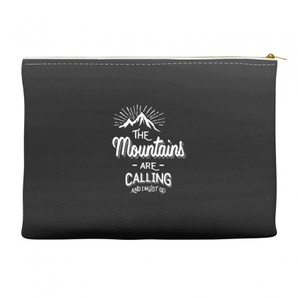 The Mountains Are Calling And I Must Go Accessory Pouches Designed By Cidolopez
