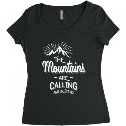 The Mountains Are Calling And I Must Go Women's Triblend Scoop T-shirt Designed By Cidolopez