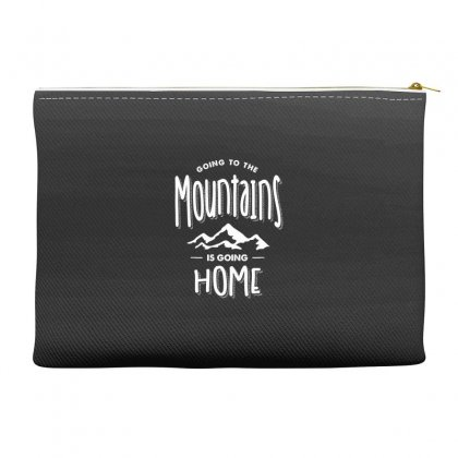 Going To The Mountains Is Going Home - Adventure Gifts Accessory Pouches Designed By Cidolopez