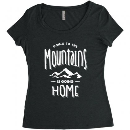 Going To The Mountains Is Going Home - Adventure Gifts Women's Triblend Scoop T-shirt Designed By Cidolopez