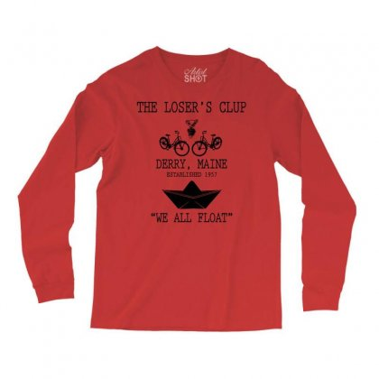 The Losers' Club Emblem   White Text Long Sleeve Shirts Designed By Fashionartis69