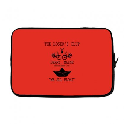 The Losers' Club Emblem   White Text Laptop Sleeve Designed By Fashionartis69