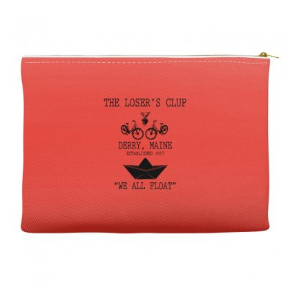The Losers' Club Emblem   White Text Accessory Pouches Designed By Fashionartis69