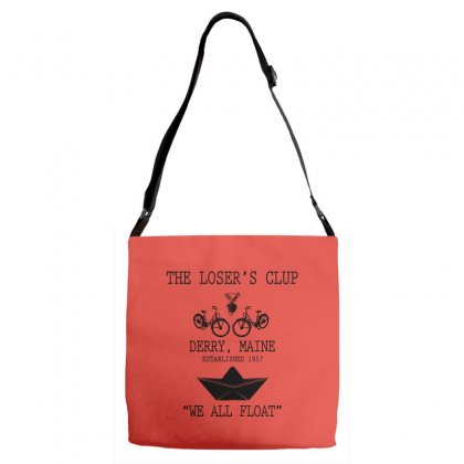 The Losers' Club Emblem   White Text Adjustable Strap Totes Designed By Fashionartis69