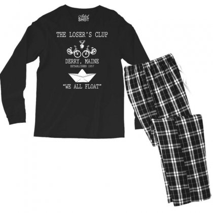The Losers' Club Emblem   White Text Men's Long Sleeve Pajama Set Designed By Fashionartis69
