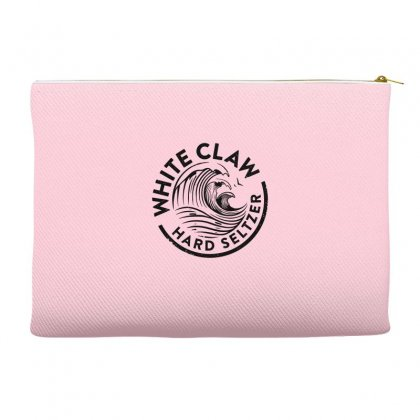 Distressed White Claw Hard Seltzer Accessory Pouches Designed By Planetshirts