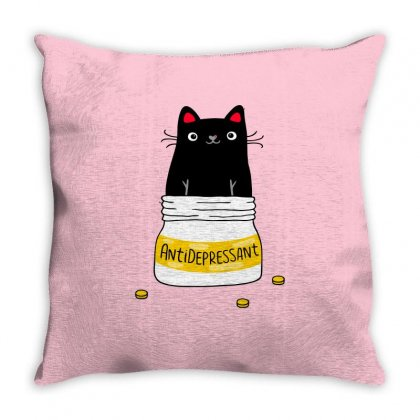 Fur Antidepressant Classic Throw Pillow Designed By Planetshirts