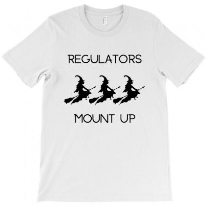 Funny Halloween Witch Regulators Mount Up In Black T-shirt Designed By Fun Tees