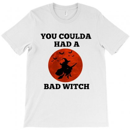 Funny Halloween Witch Shirt You Coulda Had A Bad Witch   Black T-shirt Designed By Fun Tees