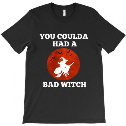 Funny Halloween Witch Shirt You Coulda Had A Bad Witch   White T-shirt Designed By Fun Tees