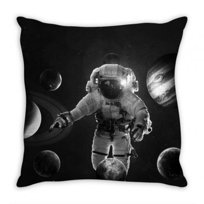 Vintage Astronaut Throw Pillow Designed By Akhtar21