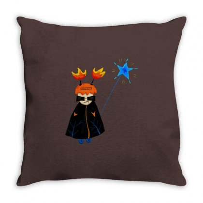 Halloween Party Western Festival Devil Dress Ghost Throw Pillow Designed By Fun Tees