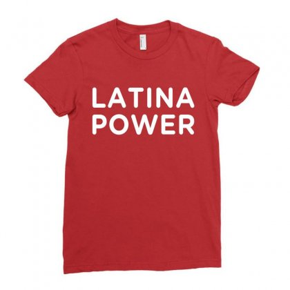Latina Power Ladies Fitted T-shirt Designed By Honeysuckle