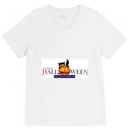 Halloween V-neck Tee Designed By Xprime