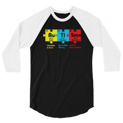 Autism 3/4 Sleeve Shirt Designed By Disgus_thing