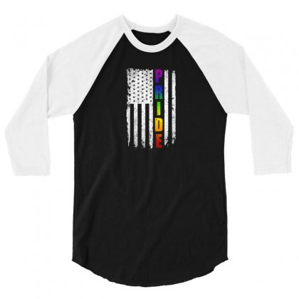 Pride 3/4 Sleeve Shirt Designed By Disgus_thing