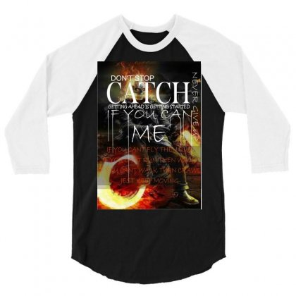 Catch Me 3/4 Sleeve Shirt Designed By Xprime