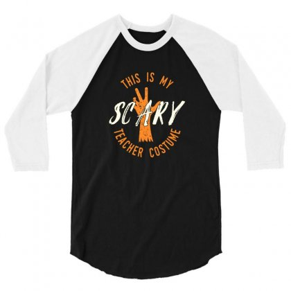 Scary 3/4 Sleeve Shirt Designed By Disgus_thing