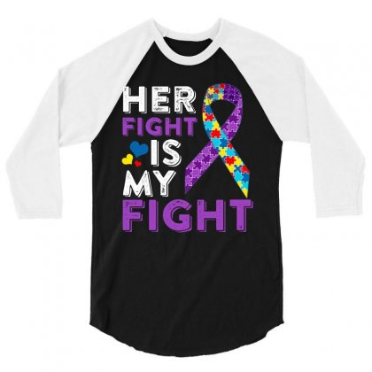 Her Fight Is My Fight 3/4 Sleeve Shirt Designed By Hung