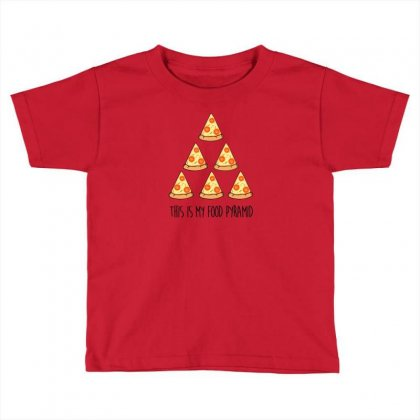 This Is My Food Pyramid Toddler T-shirt Designed By Andr1
