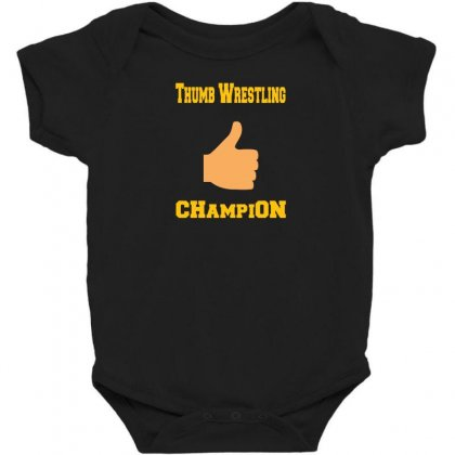 Thumb Wrestling Champion Baby Bodysuit Designed By Andr1