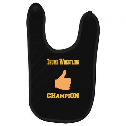 Thumb Wrestling Champion Baby Bibs Designed By Andr1