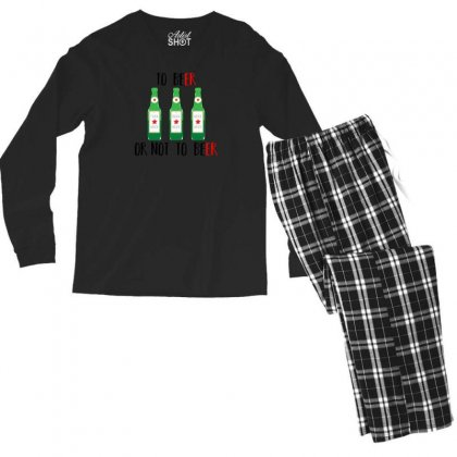 To Beer Ot Not To Beer Men's Long Sleeve Pajama Set Designed By Andr1