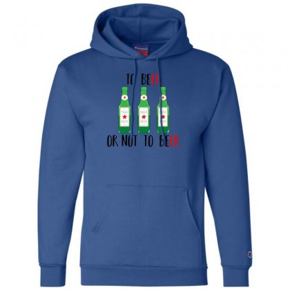To Beer Ot Not To Beer Champion Hoodie Designed By Andr1
