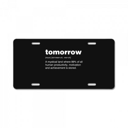 Tomorrow License Plate Designed By Andr1