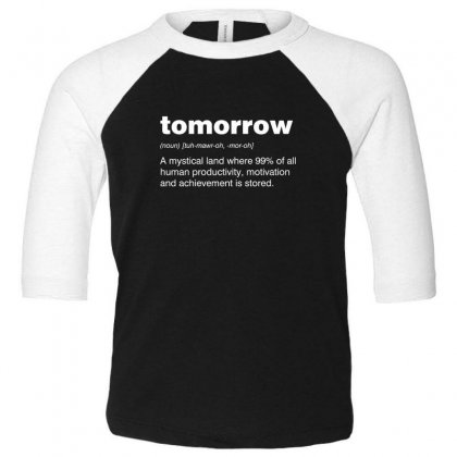 Tomorrow Toddler 3/4 Sleeve Tee Designed By Andr1