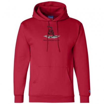 Tread Harder Champion Hoodie Designed By Andr1