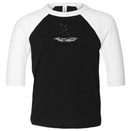 Tread Harder Toddler 3/4 Sleeve Tee Designed By Andr1