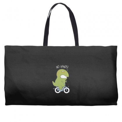 T Rex Tries Biking Weekender Totes Designed By Andr1
