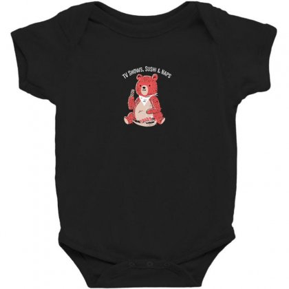 Tv Shows, Sushi & Naps Baby Bodysuit Designed By Andr1
