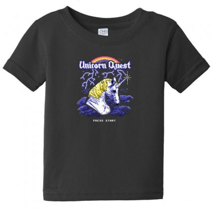 Unicorn Quest Baby Tee Designed By Andr1