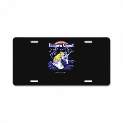 Unicorn Quest License Plate Designed By Andr1