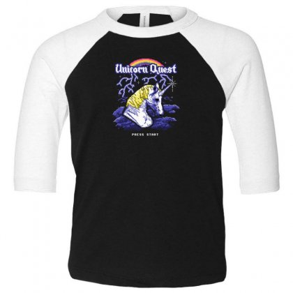 Unicorn Quest Toddler 3/4 Sleeve Tee Designed By Andr1