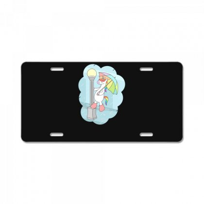 Unicorn Singin In The Rain License Plate Designed By Andr1